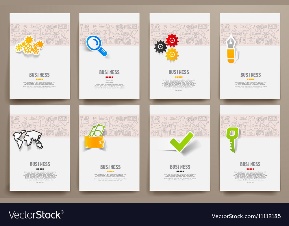 Design template blank booklets in graphics vector image