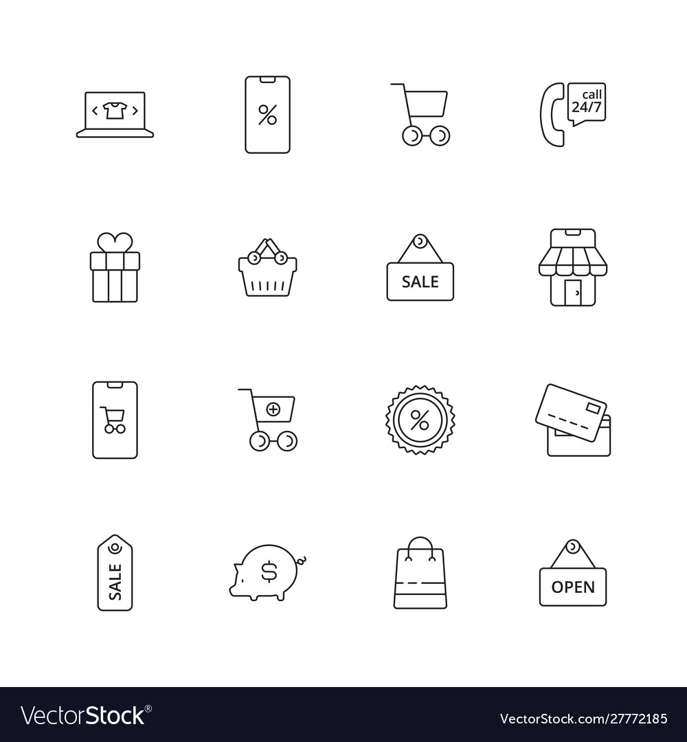 E-commerce icon business shopping purchase retail