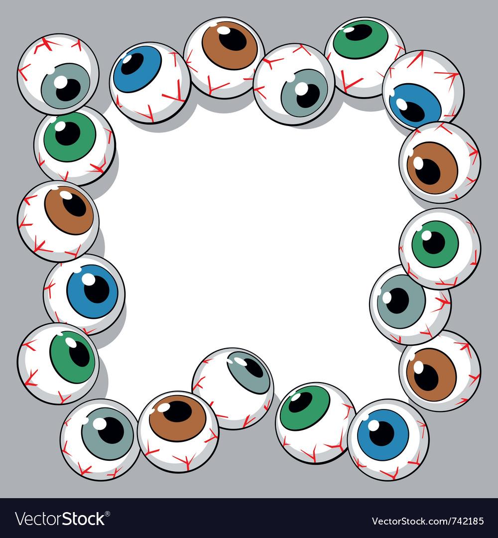 Eyeballs frame vector image