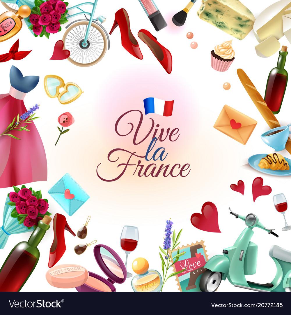 France paris frame background
