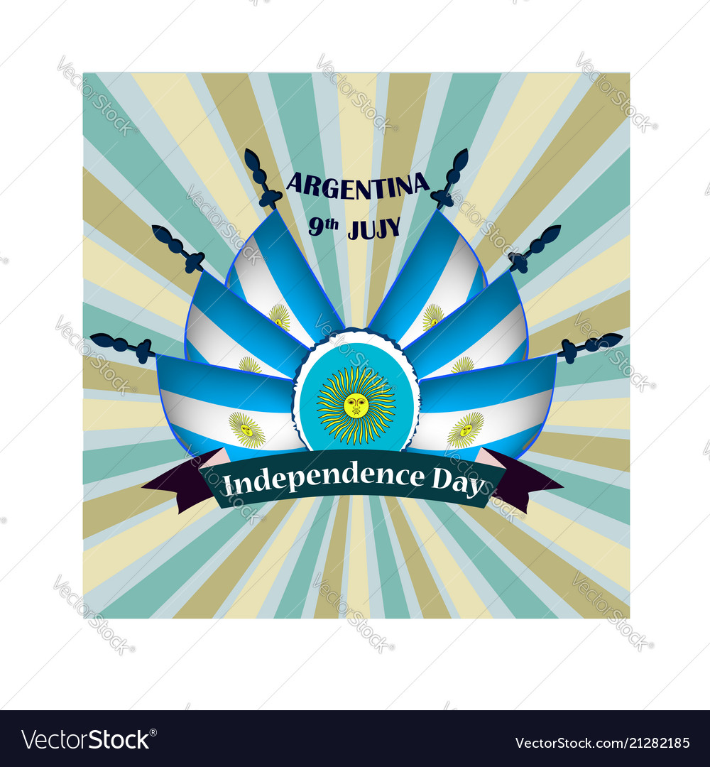 Independence day of argentina with