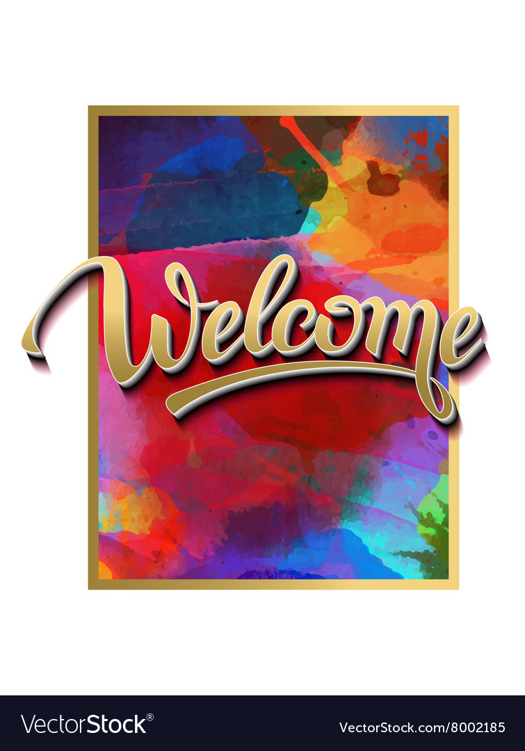 Sign symbol word welcome