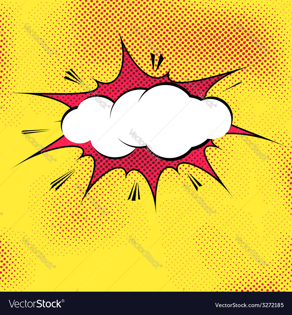 Speech bubble pop-art splash explosion template Vector Image