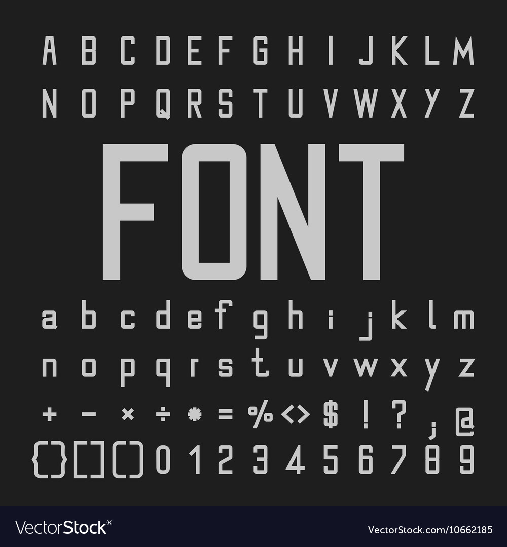 Tall Font and Number Design Alphabe