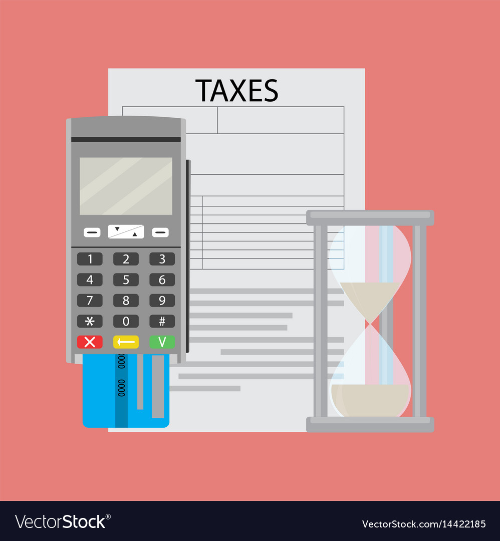 Tax document and transfer paying money vector image