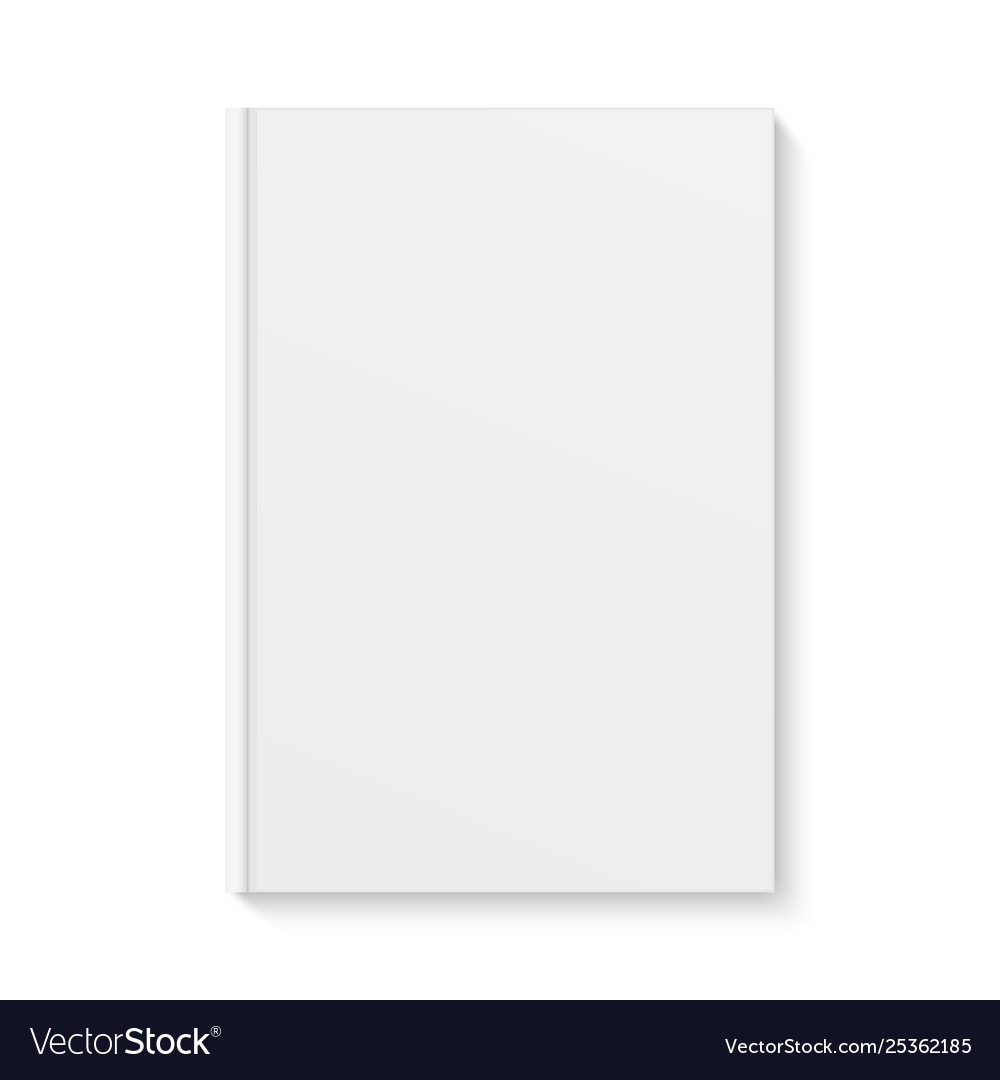 White Blank Book Cover Isolated Template Empty