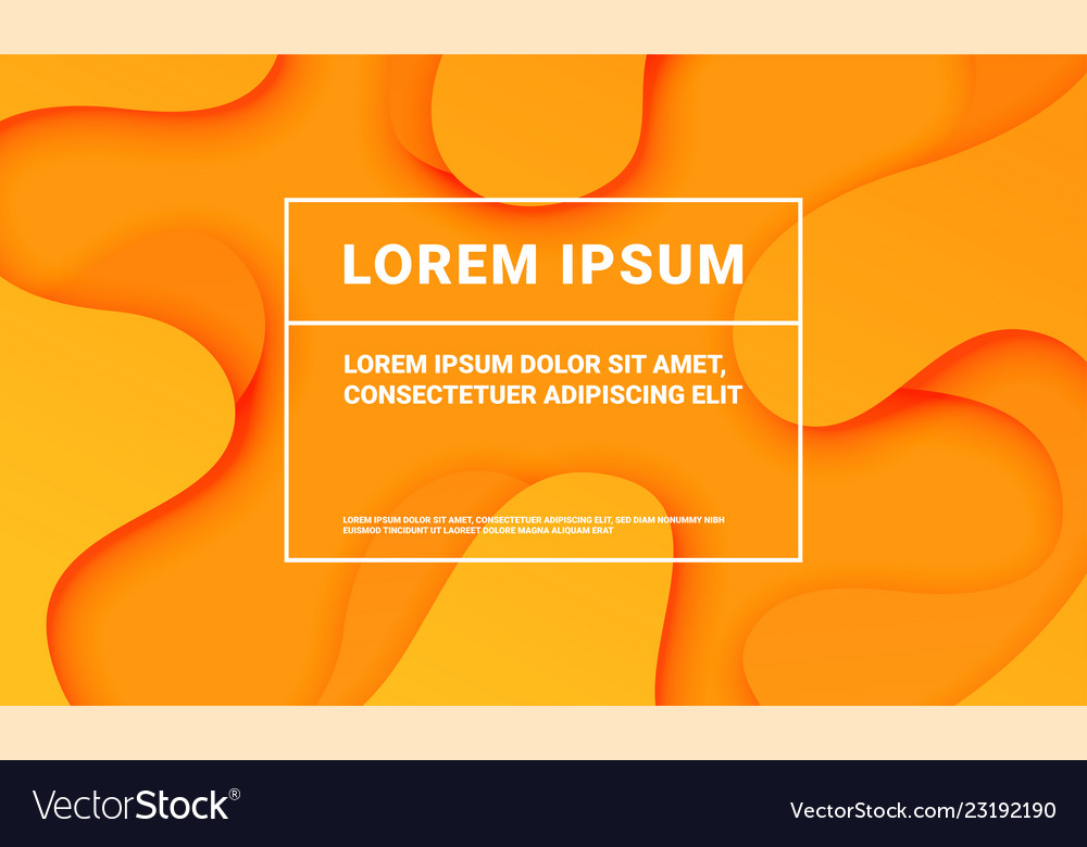 Abstract orange background with soft fluid color