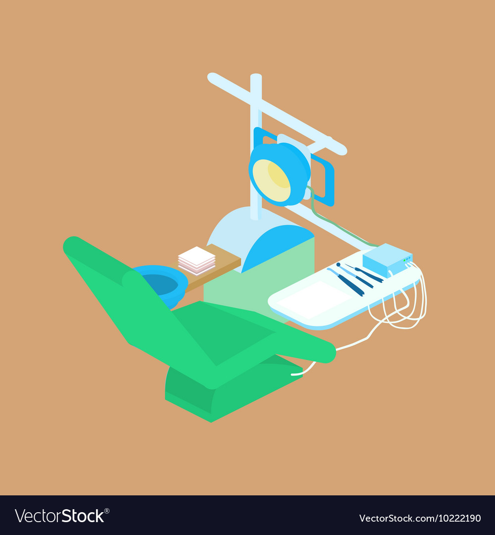 Color isometric dental clinic