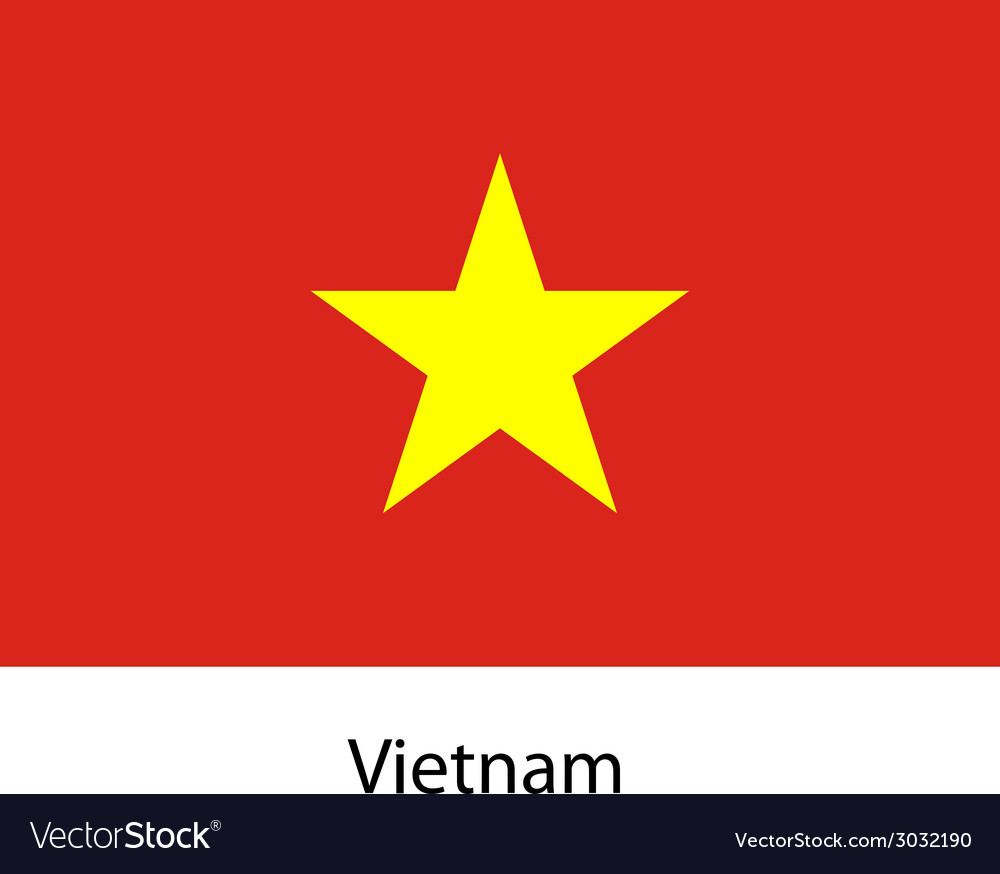 Flag of the country vietnam vector image