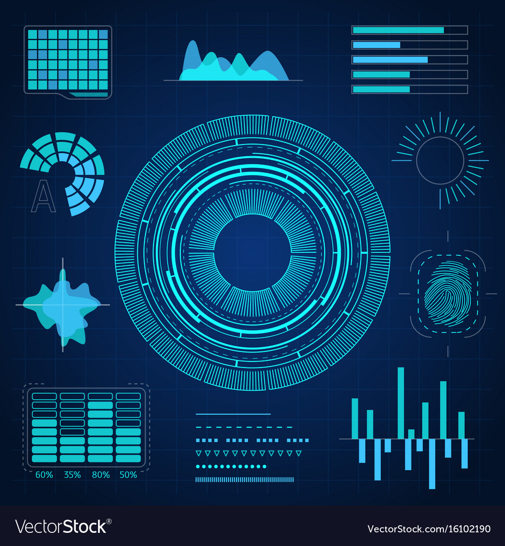 Hud interface futuristic graphic background card