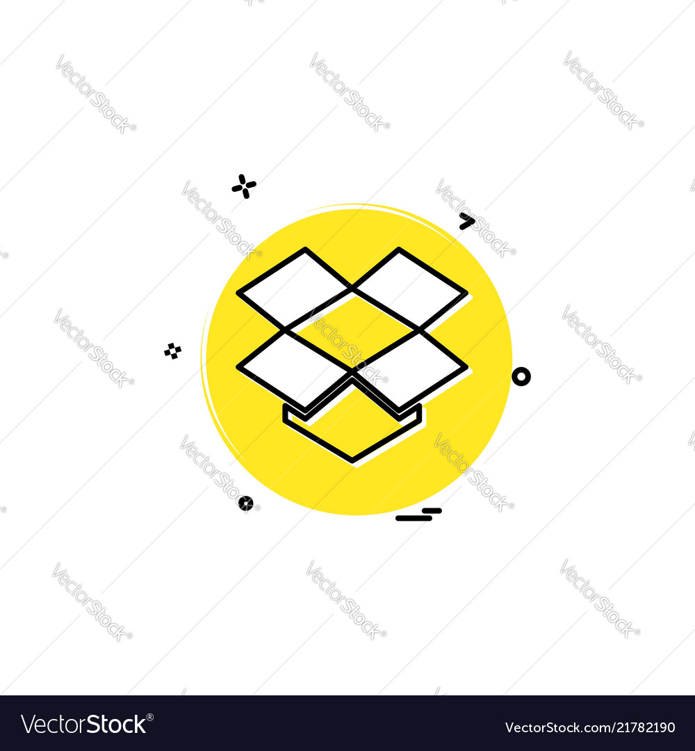 Media Network Social Dropbox Icon Design Vector Image