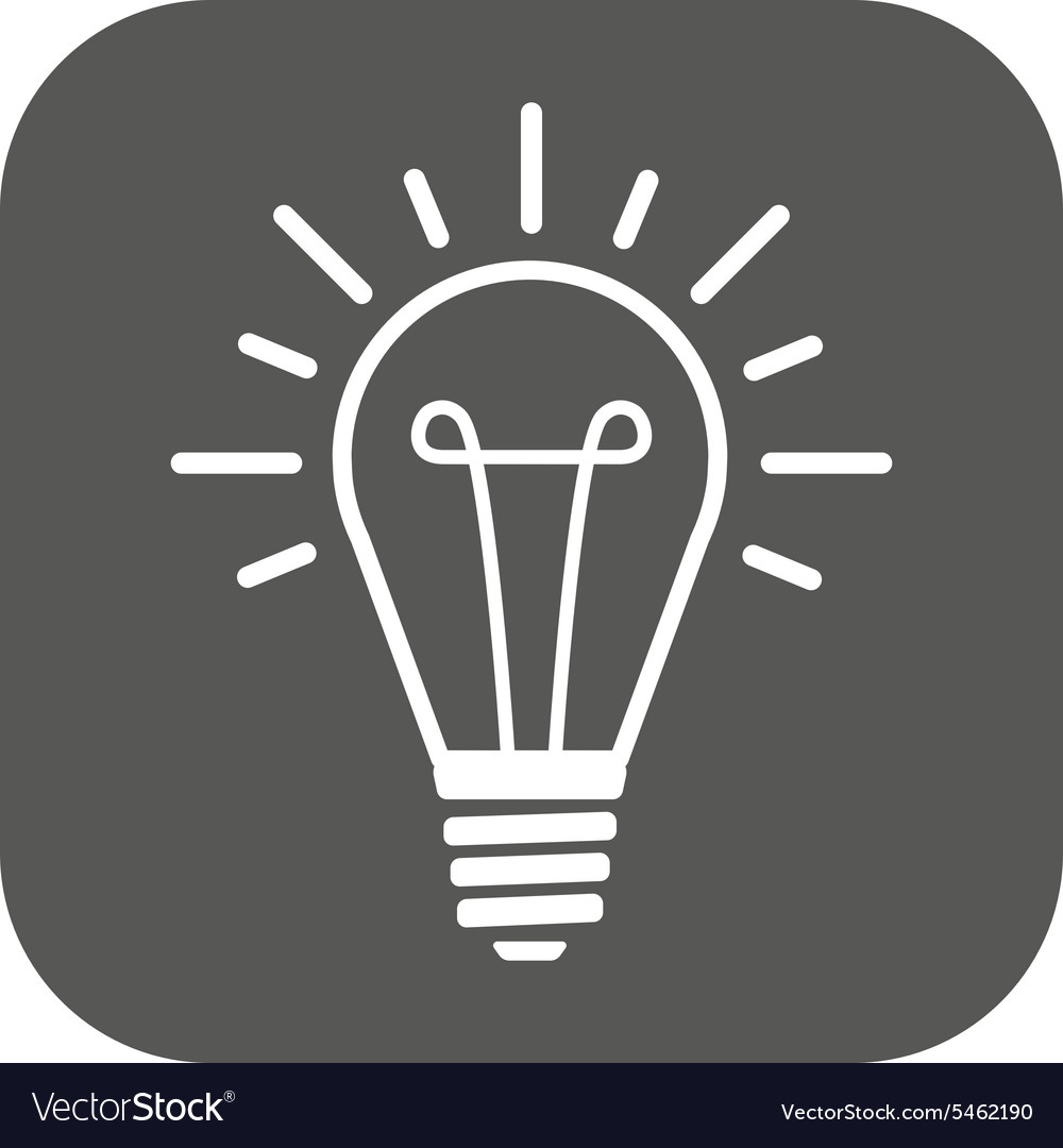 The lightbulb icon Illumination symbol Flat vector image