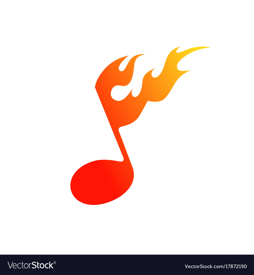 The Symbol Of Fire And Music Royalty Free Vector Image