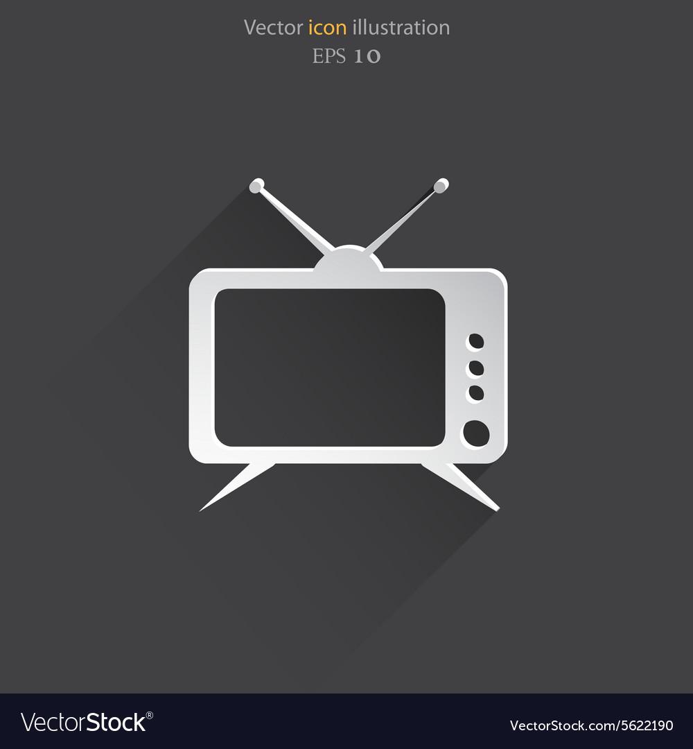 Tv web icon vector image