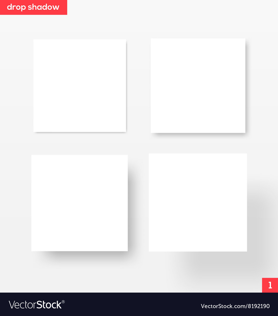 White square banners with drop shadow