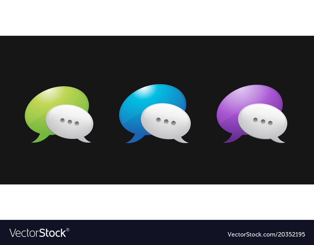 Abstract glossy speech bubbles backgrounds vector image