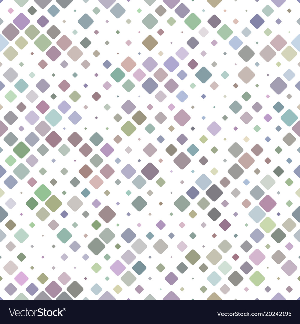Abstract seamless diagonal rounded square mosaic