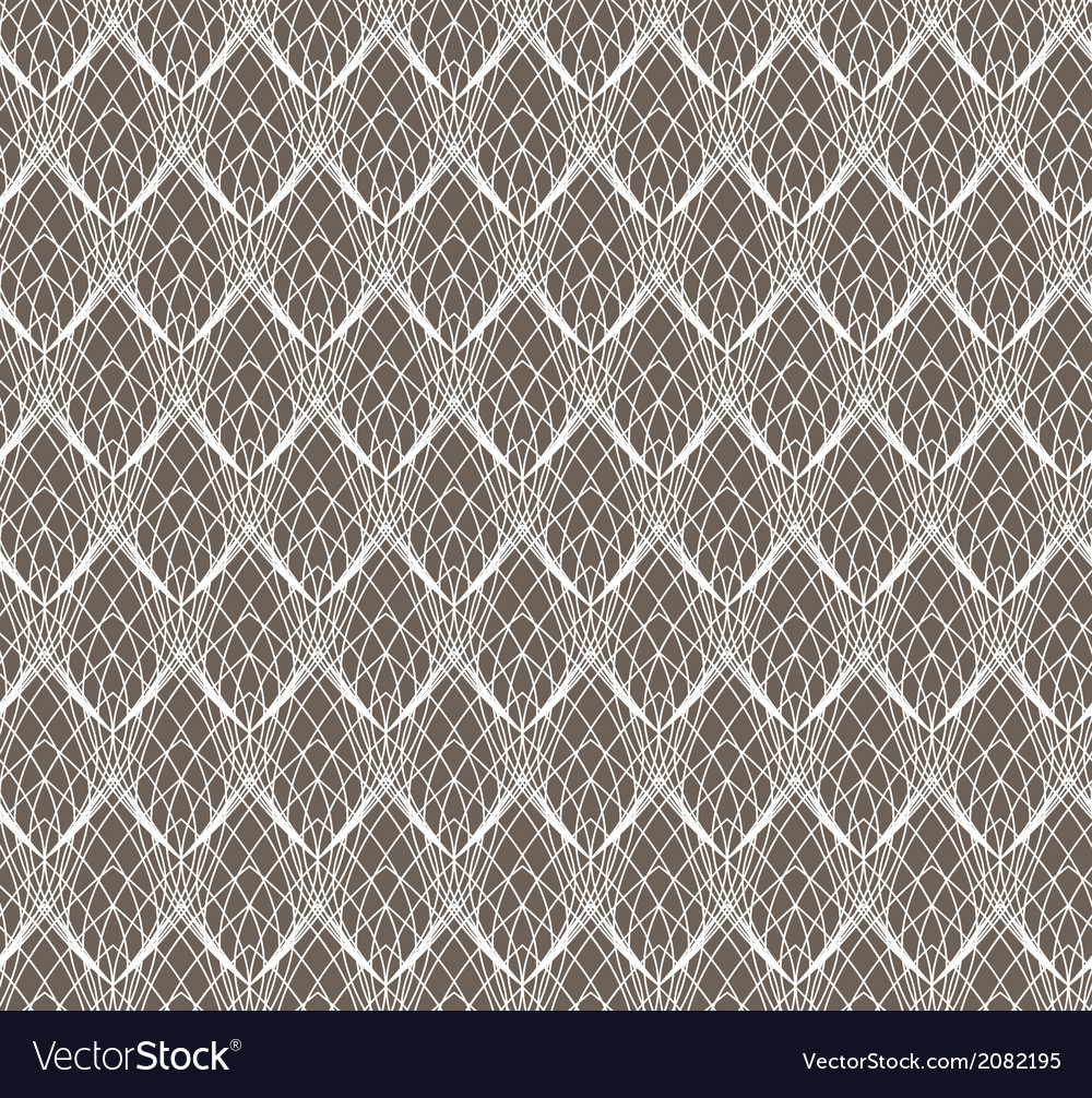 Abstract White Lace seamless pattern on dark