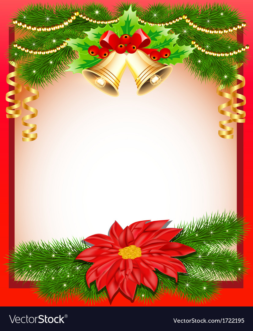 background christmas with flower royalty free vector image