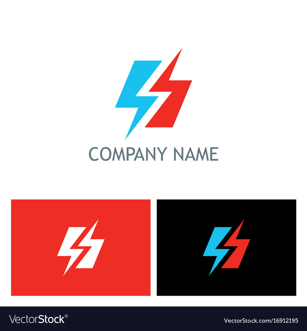 bolt lighting electric logo royalty free vector image