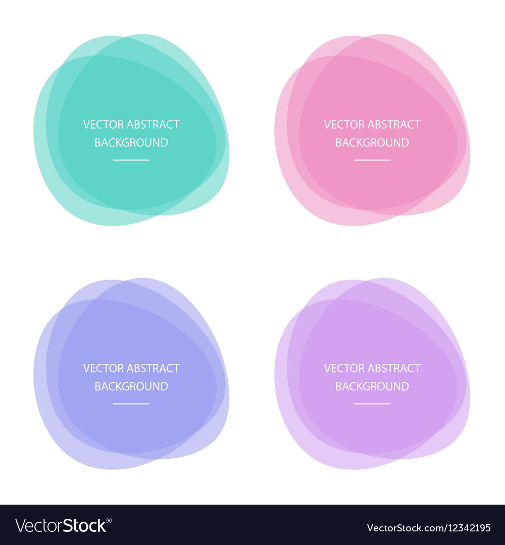 Colorful abstract circle round frames