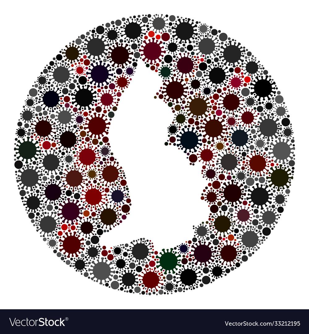 Covid19 virus stencils circle liechtenstein map