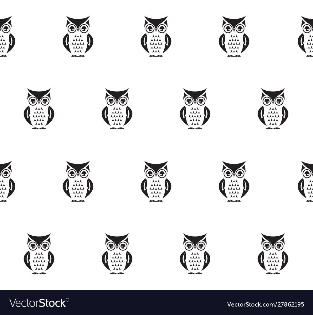 Owl seamless pattern