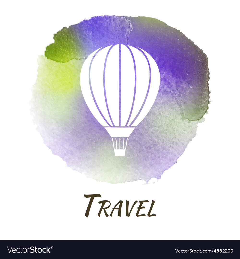 Air Balloon Travel Watercolor Concept