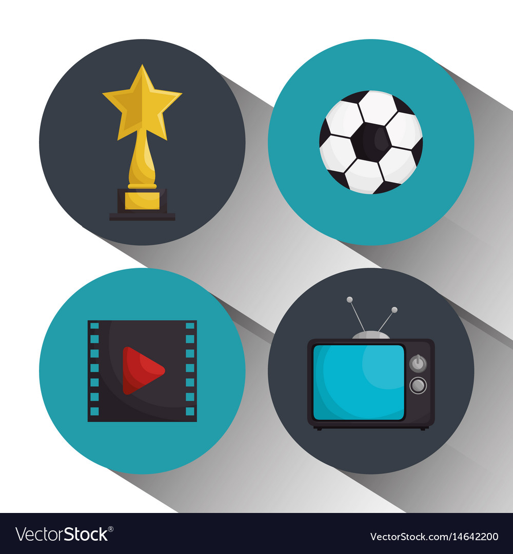 Cinema entertainment elements icons