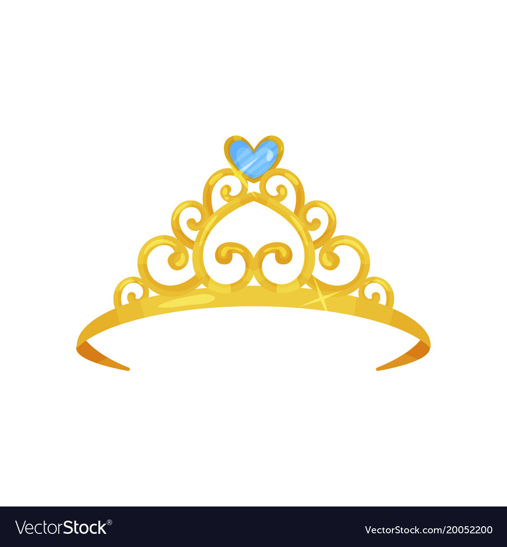 colorful of golden princess crown royalty free vector image rh vectorstock com princess crown black and white vector princess crown vector image free download