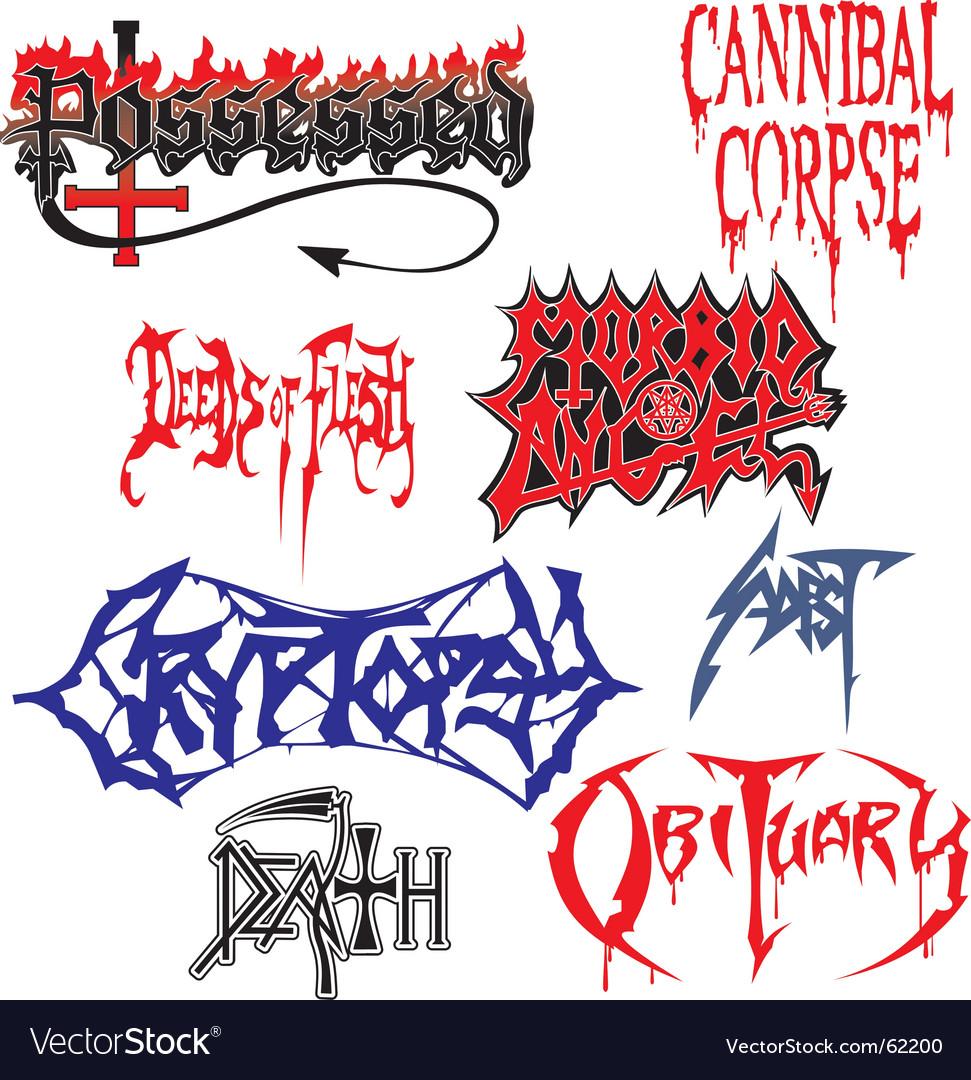 Death metal vector image