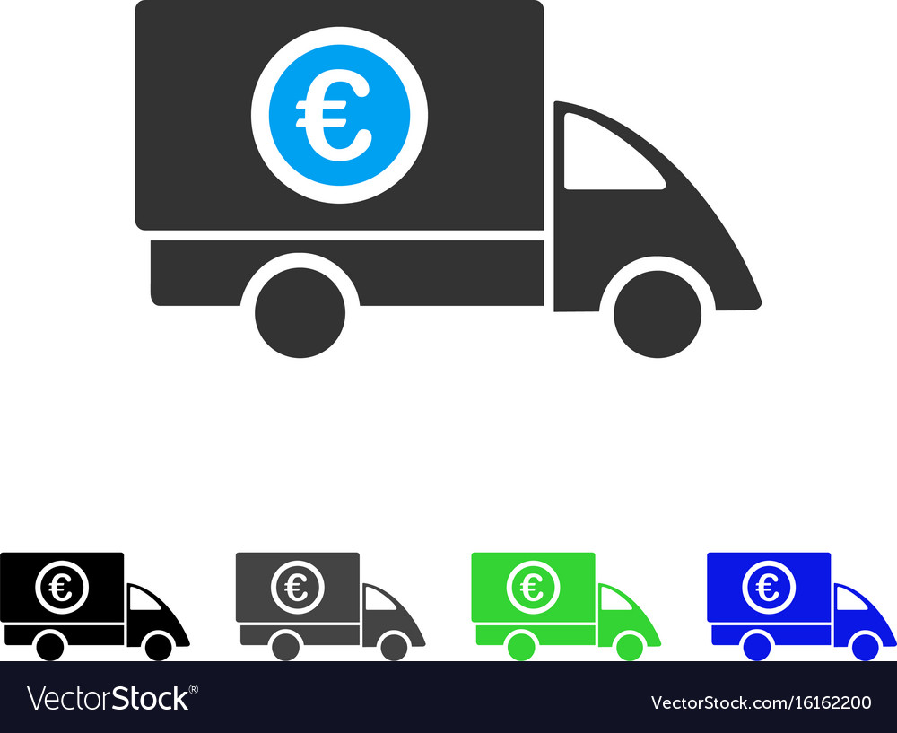 Euro delivery flat icon vector image