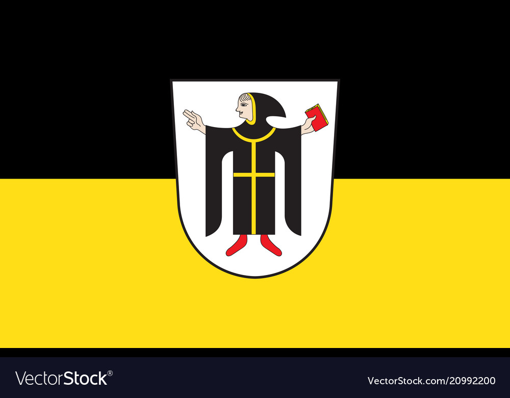 Flag Of Munich Is The Capital City Of The German Vector Image