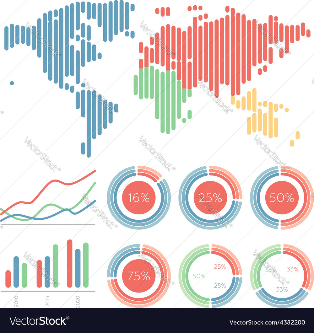 Infographic elements world map