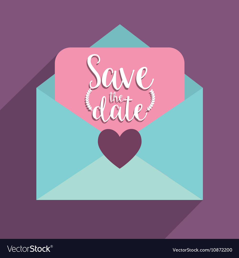 love letter and save the date design vector image