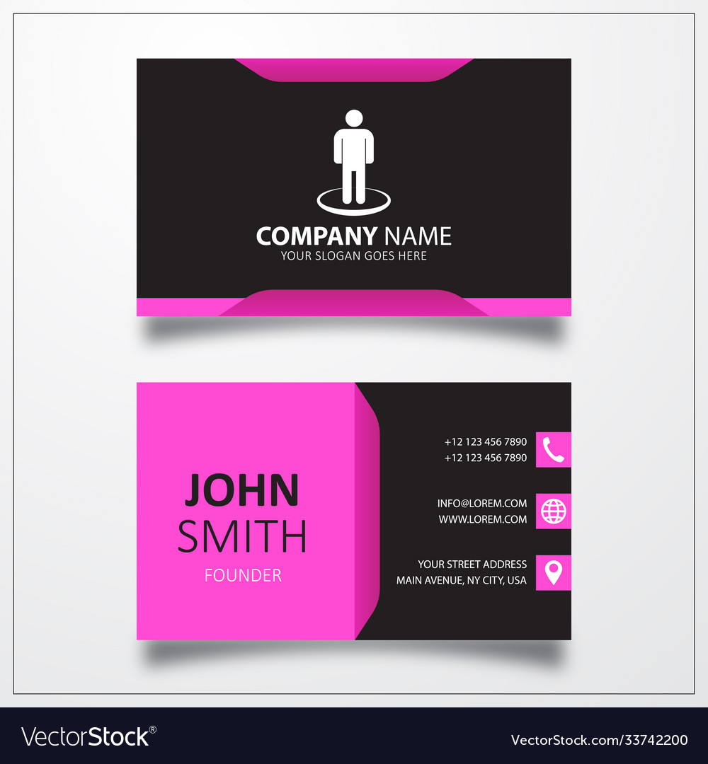 Street view icon business card template