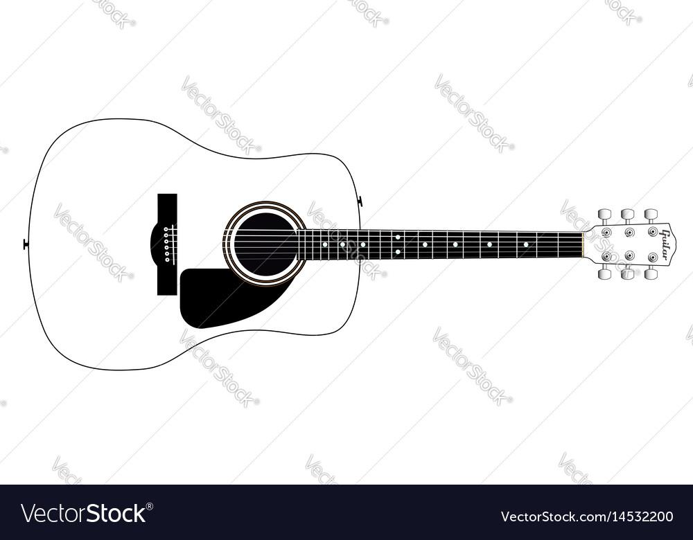 White guitar vector image