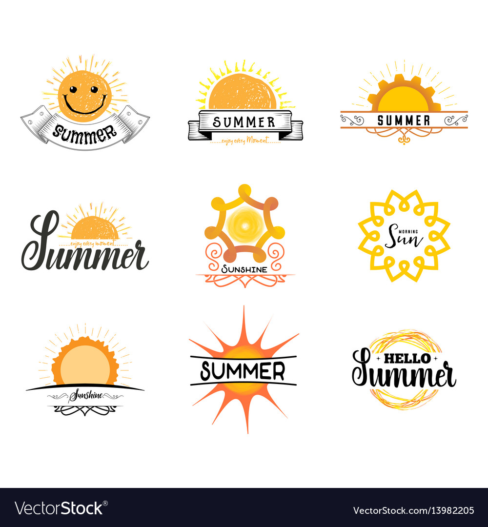 Badge as part of the design - sun and summer