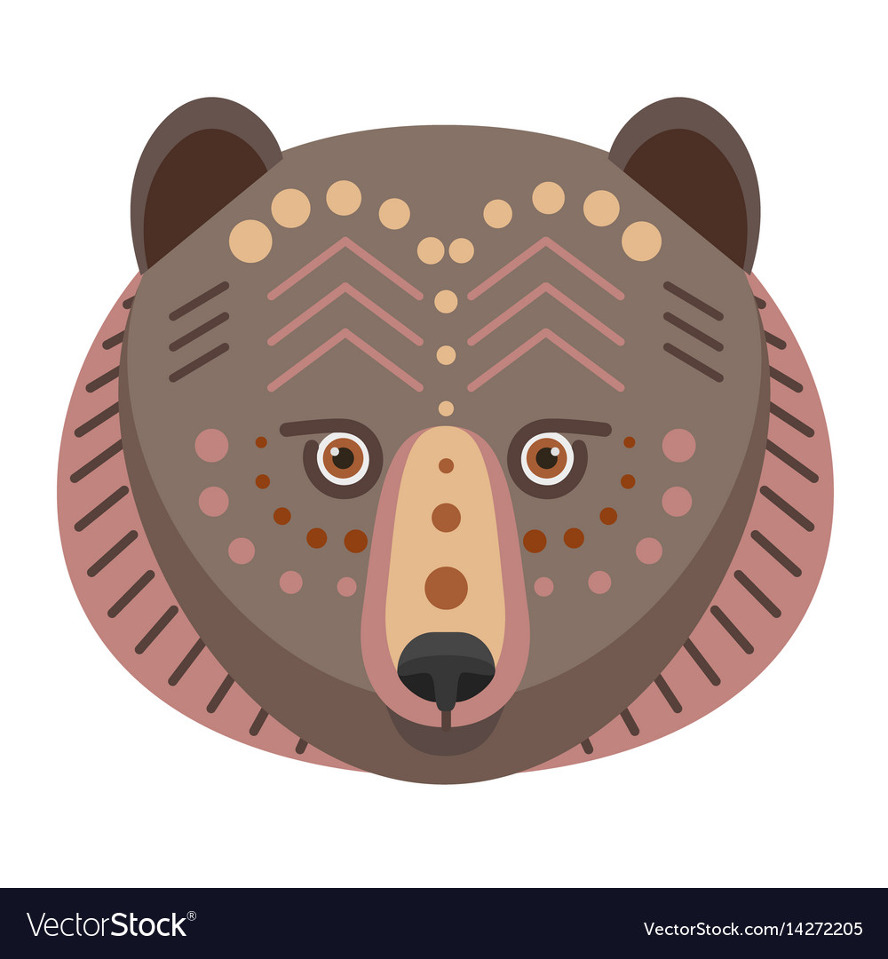 Bear head logo decorative emblem