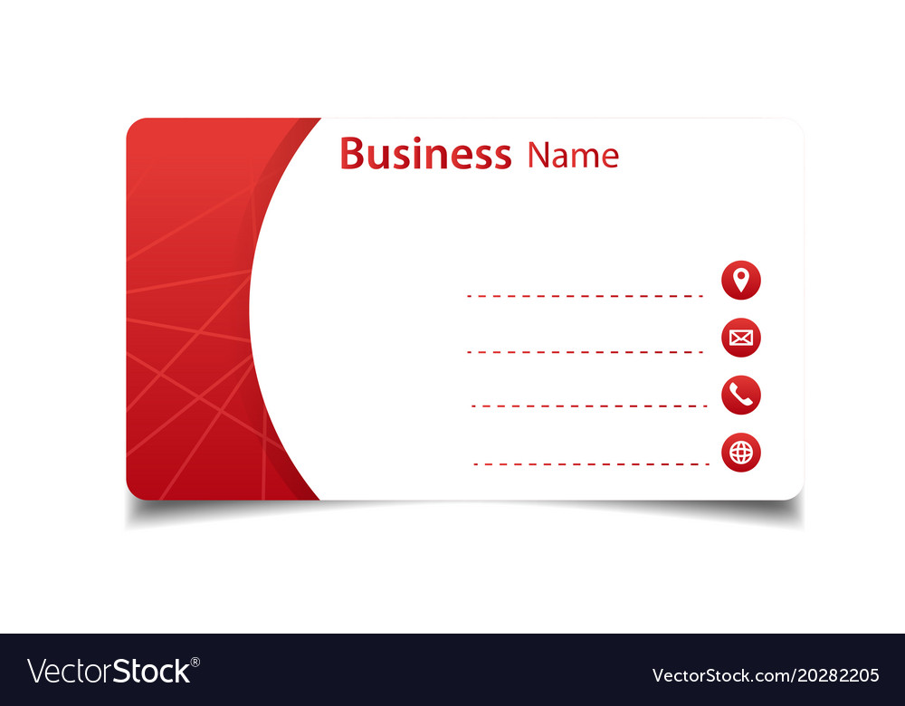 Business card red and white background imag vector image reheart Gallery