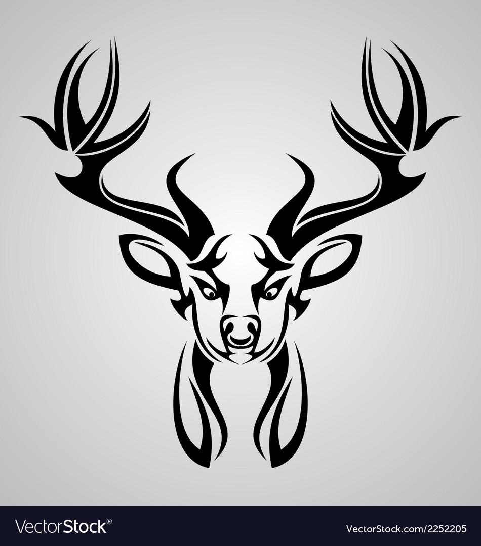 Elk Stencil Vector Images 32