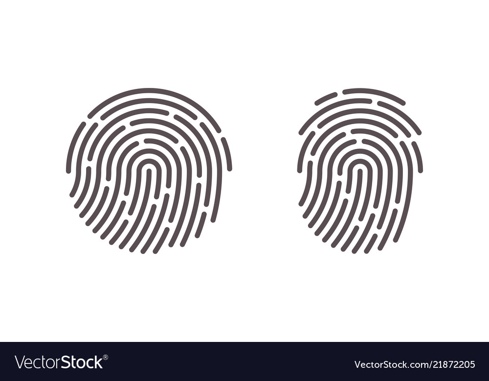 Fingerprint finger print scan logo icons