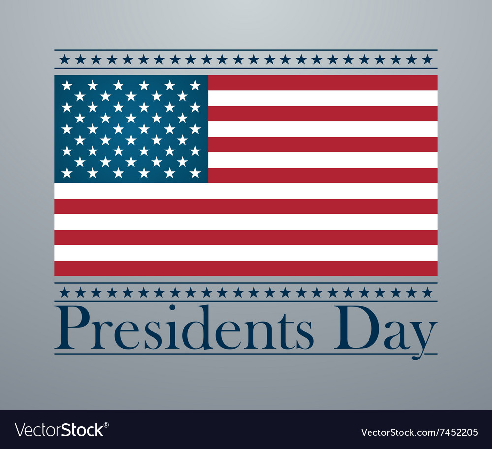 Presidents day background united states