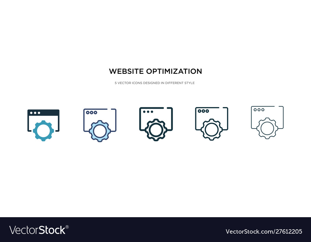 Website optimization icon in different style two