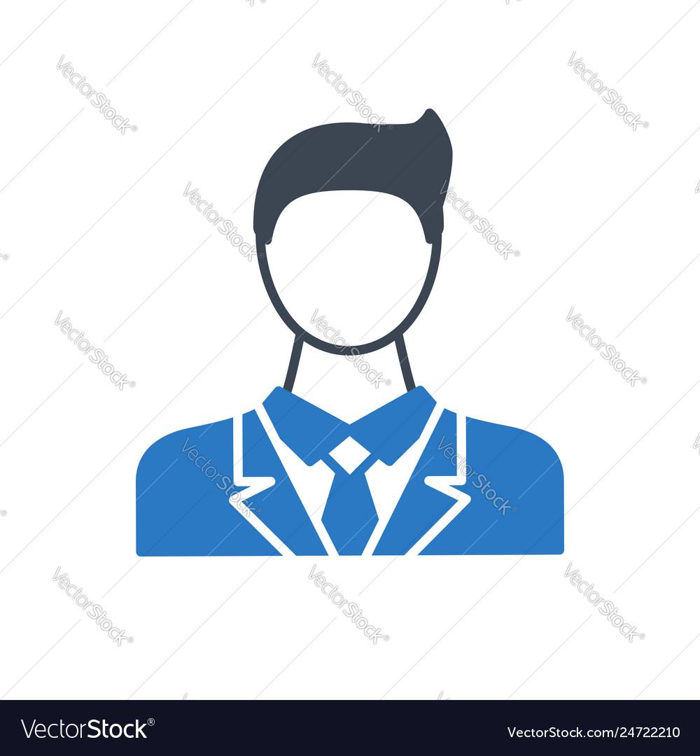 Businessman glyph icon