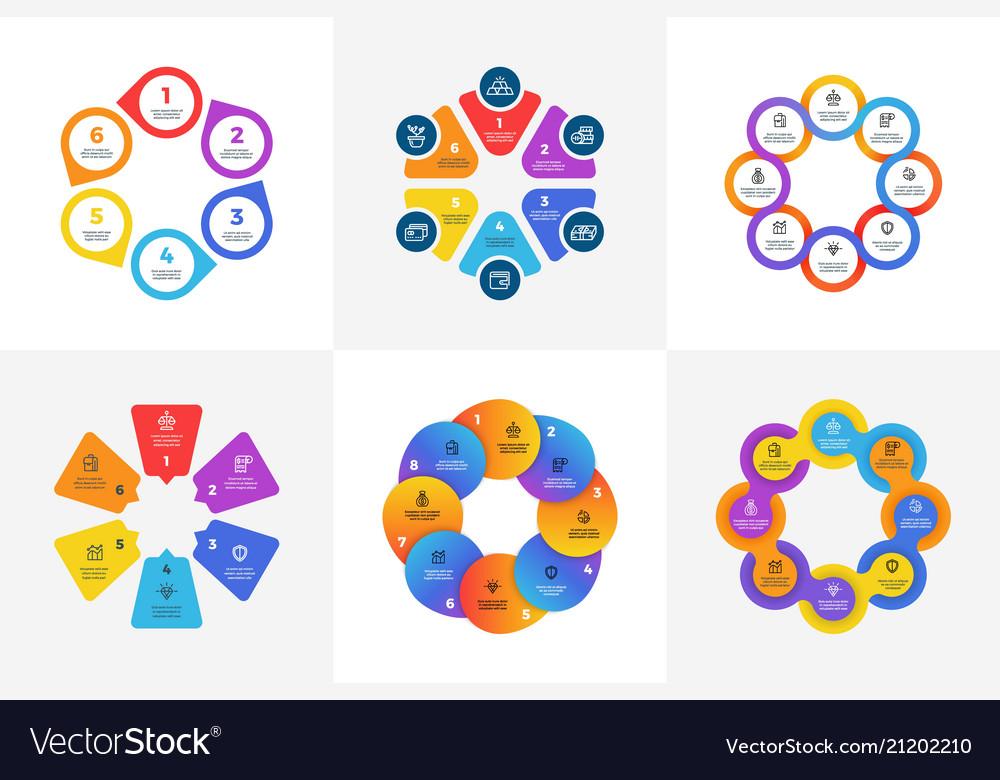 Circular technology infographics with arrow