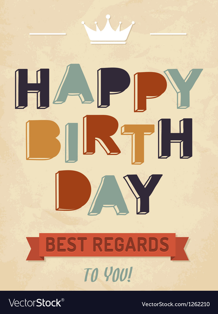 For happy birthday card vector image