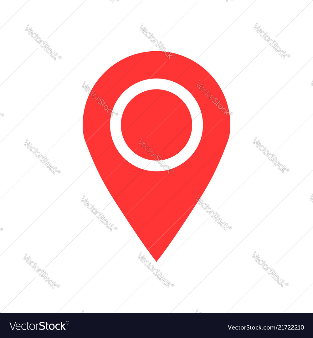 Pin map icon in flat style gps navigation on
