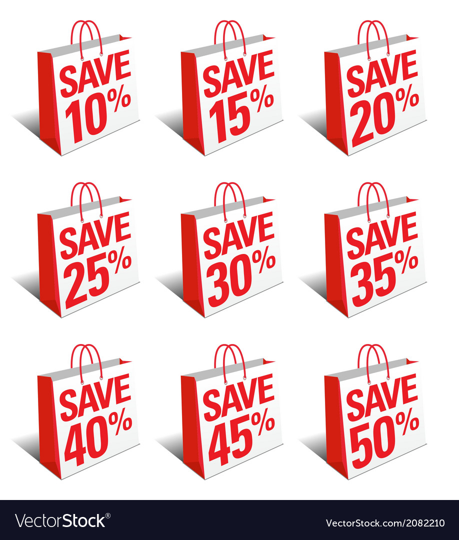 SALE SAVE Shopping Bags Carrier Bags Symbols