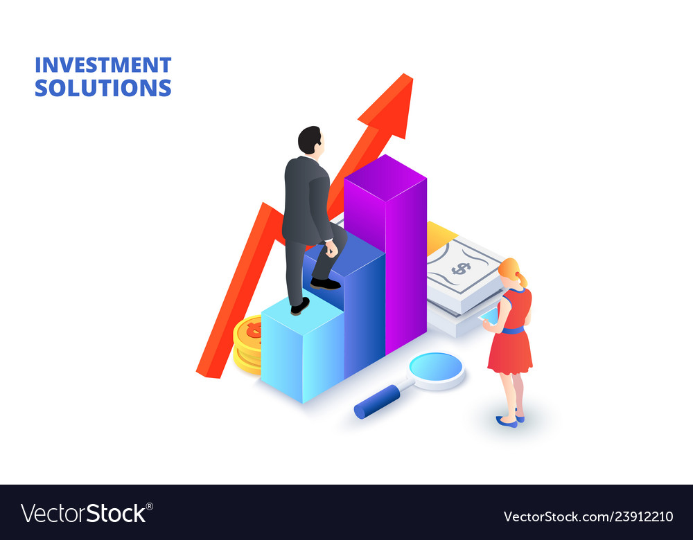 Solutions for investments analysis concept and